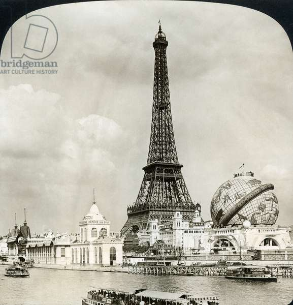 EIFFEL TOWER, 1900 The Eiffel Tower and the Celestial Globe. Photographed during the International Exposition at Paris, 1900.
