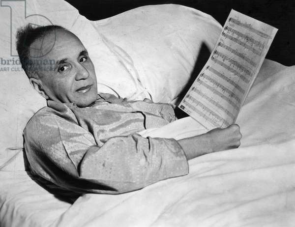FLETCHER HENDERSON (1898-1952). American pianist and bandleader. Pictured while recovering from a stroke. Photograph, 1951.