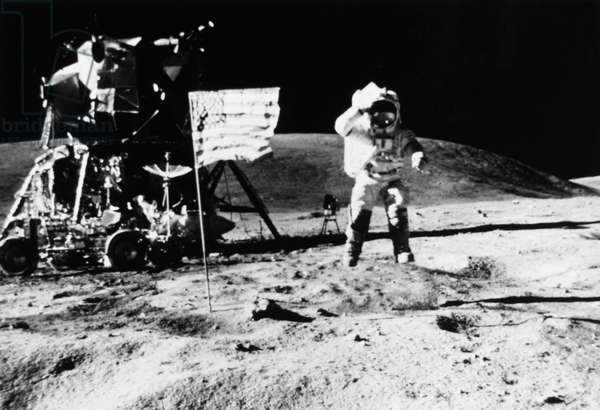 APOLLO 11 LANDING, 1969 One of the astronauts of the Apollo 11 mission, on the moon, 1969.