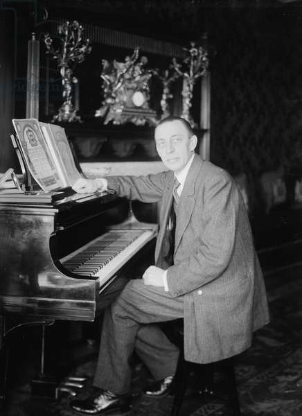 SERGEI RACHMANINOFF (1873-1943). Russian composer, conductor, and pianist. Photograph, c.1925.