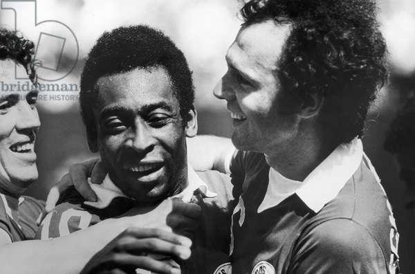 PELE & BECKENBAUER, c.1977 New York Cosmos teammates Pele and Franz Beckenbauer (right). Photograph, c.1977.