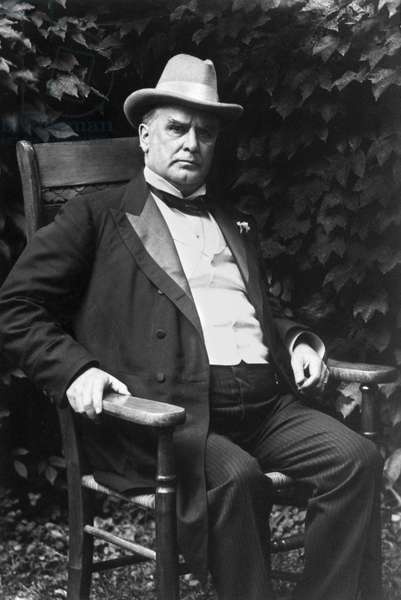 WILLIAM McKINLEY (1843-1901) 25th President of the United States. Photographed in 1896.