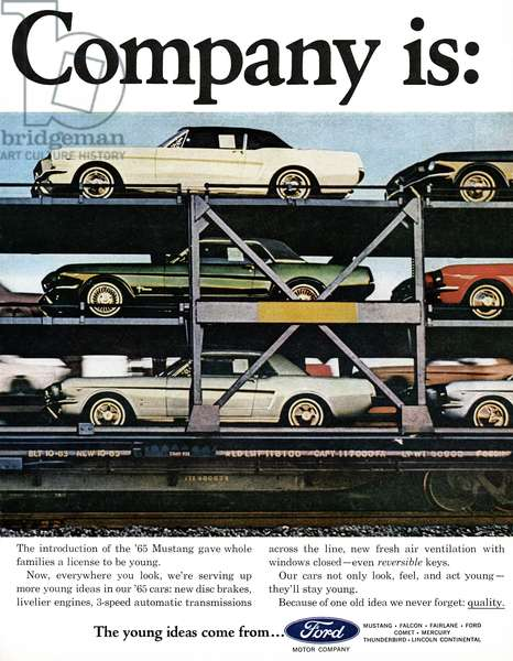 AD: FORD, 1964 American advertisement for the Ford Motor Company. Photograph, 1964.