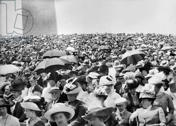 WASHINGTON: MASS, 1912 Crowds attending an open-air mass near the Washington Monument in Washington, D.C. Photographed in 1912.