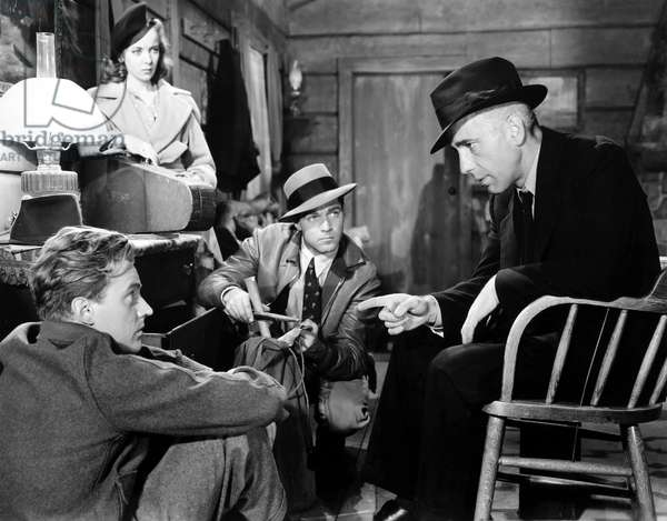 HIGH SIERRA, 1941 From left to right: Arthur Kennedy as 'Red', Ida Lupino as Marie, Alan Curtis as 'Babe,' and Humphrey Bogart as Roy Earle.