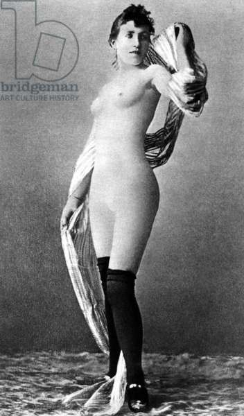 NUDE POSING, c.1888 Nude study of a French dancer known as La Tour Eiffel, c.1888.