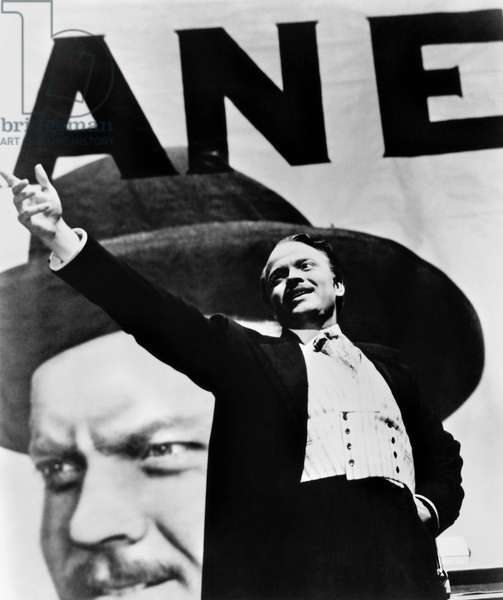 CITIZEN KANE, 1941 Orson Welles in the title role of Charles Foster Kane in the film 'Citizen Kane,' 1941.