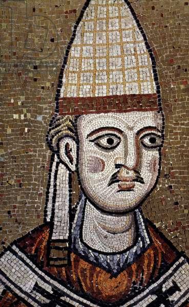 POPE INNOCENT III (1161-1216) Pope, 1198-1216. Contemporary mosaic portrait.