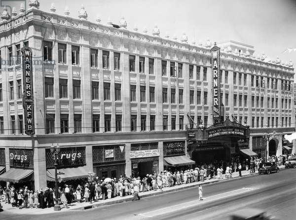 MOVIE THEATER, c.1945 Warner Brothers movie theater, c.1945.