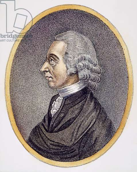 JOSEPH PRIESTLEY (1733-1804) English clergyman and chemist. Aquatint, c.1804.