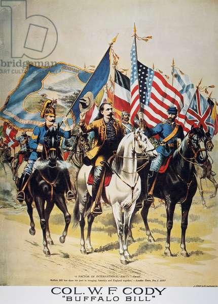 BUFFALO BILL: POSTER, 1893 Buffalo Bill Wild West Show lithograph poster, c.1893.