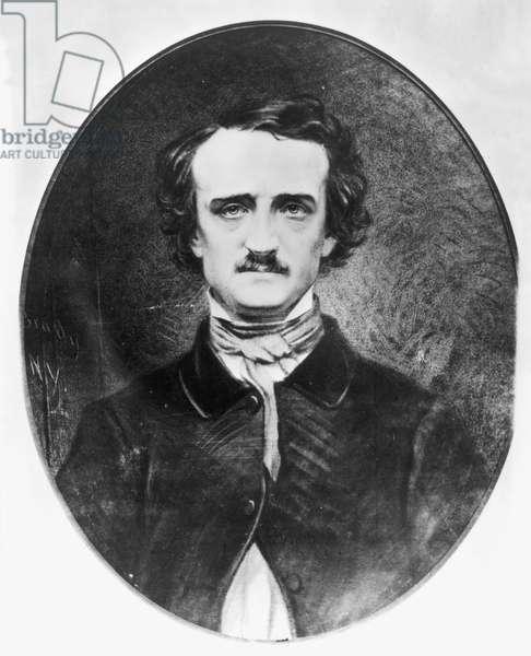EDGAR ALLAN POE (1809-1849). American writer. Daguerreotype by Mathew Brady.