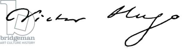 VICTOR HUGO (1802-1885) French writer. Autograph signature.