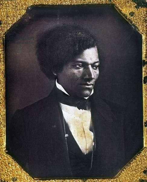 FREDERICK DOUGLASS ( c.1817-1895). American abolitionist. Daguerreotype, c.1847.