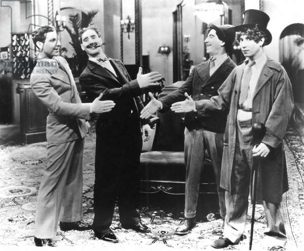 MARX BROTHERS, 1929 In a scene from 'The Coconuts,' 1929. From left: Zeppo, Groucho, Chico, and Harpo.
