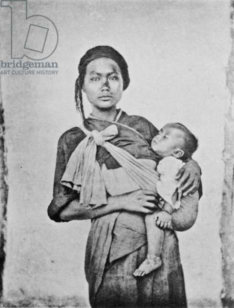 TAIWAN: MOTHER, 1870s A Pepohoan mother and child, 1870s.