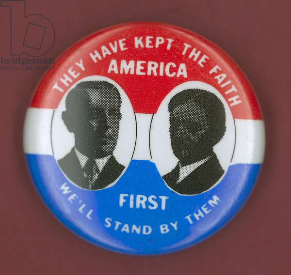 WILSON CAMPAIGN BUTTON Democratic presidential campaign button from Woodrow Wilson's 1912 bid for president, with Vice Presidential candidate Thomas Marshall.