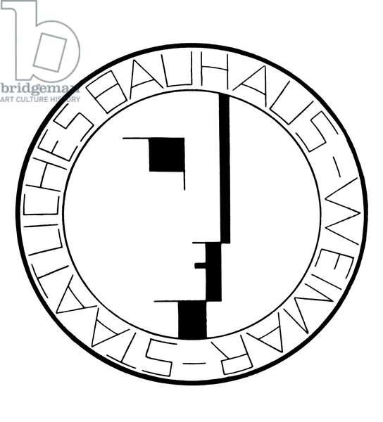 BAUHAUS: LOGO Logo of the German Bauhaus design school, early 20th century.