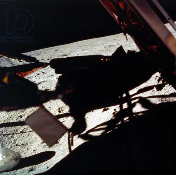 APOLLO 11: LANDING, 1969 The Apollo 11 Lunar Module on the moon. Photograph, 20 July 1969.