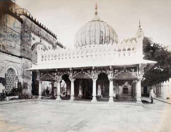 INDIA: ARCHITECTURE An onion-domed building, probably Mughal, in India. Photograph, late 19th or early 20th century.
