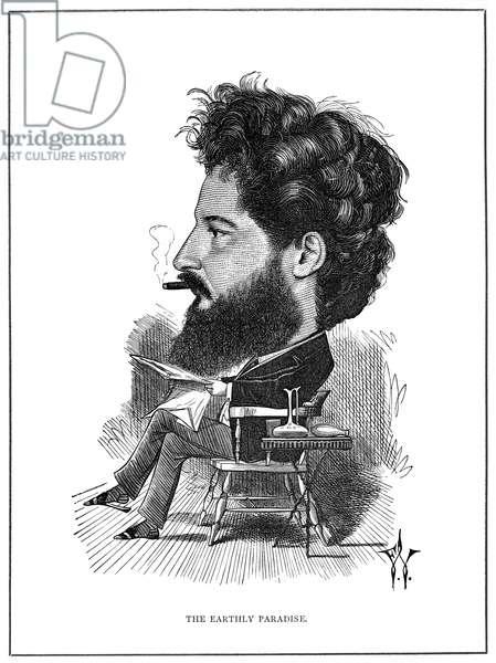 WILLIAM MORRIS (1834-1896) English artist and poet. Caricature, 1872, by Frederic Waddy.