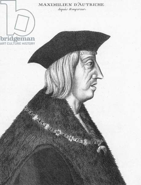 MAXIMILIAN I (1459-1519) Holy Roman Emperor, 1493-1519. Woodcut, 1519, by Albrecht Durer.