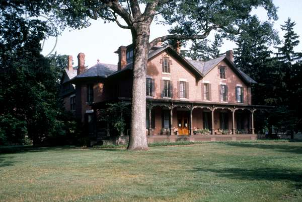 RUTHERFORD B. HAYES: HOME 'Spiegel Grove,' the summer home of President Rutherford B. Hayes (1822-1893) in Fremont, Ohio.