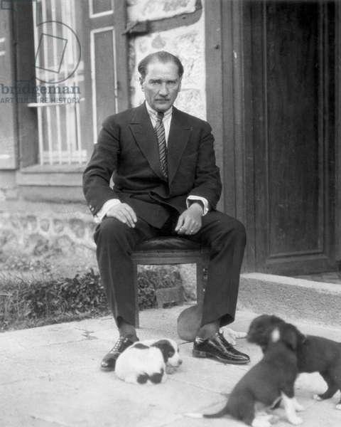 MUSTAFA KEMAL ATATURK (1881-1938). Turkish soldier and statesman. Photograph, n.d.