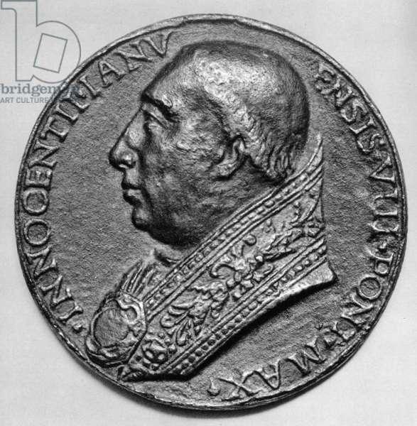 INNOCENT VIII (1432-1492) Pope, 1484-1492. Contemporary medallion.