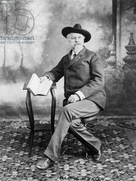 WILLIAM F. CODY (1846-1917) William Frederick Cody. Known as Buffalo Bill. American frontiersman and showman. Photograph, c.1907.