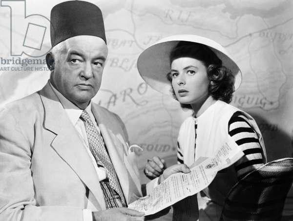 FILM: CASABLANCA, 1942 Sidney Greenstreet and Ingrid Bergman in 'Casablanca' directed by Michael Curtiz, 1942.