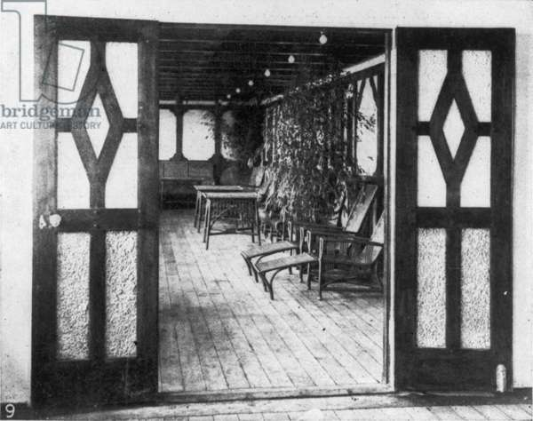 TITANIC: PRIVATE DECK, 1912 The private deck of one of the two exclusive suites, 1912.