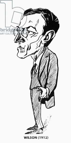 WOODROW WILSON (1856-1924) 28th President of the United States. Caricature, 1912.