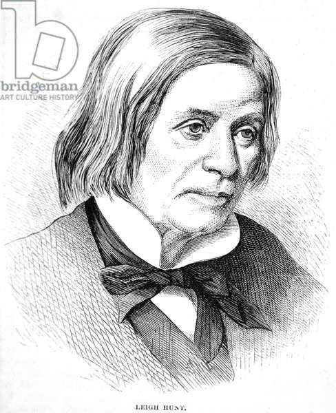 JAMES HUNT (1784-1859) James Henry Leigh Hunt. English essayist and poet. Wood engraving, c.1830.