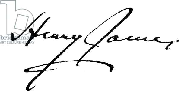 HENRY JAMES (1843-1916) American writer. Autograph signature.