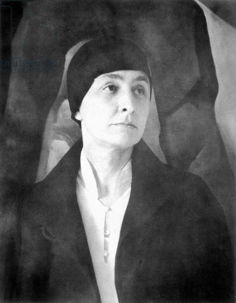 GEORGIA O'KEEFFE (1887-1986) American painter. Photographed in 1930.