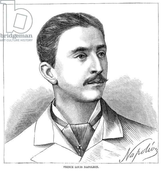 NAPOLEON, PRINCE IMPERIAL (1856-1879). Napoléon Eugène Louis Jean Joseph, Prince Imperial of France, Head of the House of Bonaparte. Engraving, 1879.