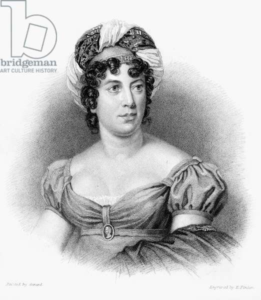 MADAME de STAEL (1766-1817) Anne-Louise-Germaine de Stael. Née Necker. French writer. Steel engraving, English, 19th century.