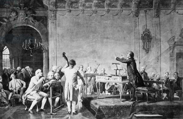 GIOVANNI PAISIELLO (1741-1816). Italian composer. Paisiello is shown conducting.