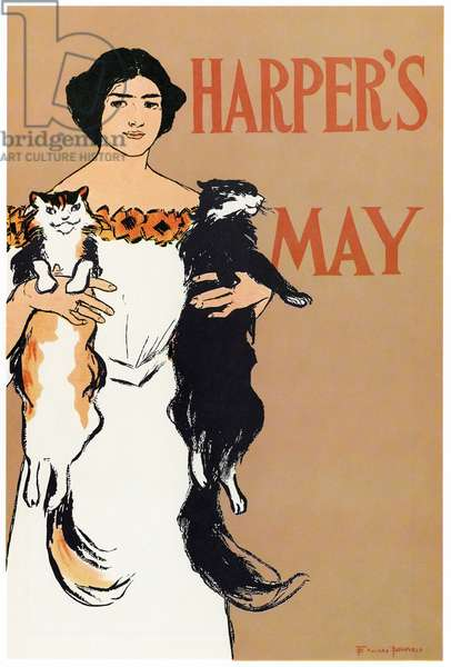 HARPER'S, 1897 Cover of 'Harper's', May 1897. Lithograph by Edward Penfield.