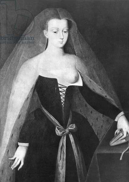 AGNES SOREL (1422-1450) Mistress of Charles VII of France.