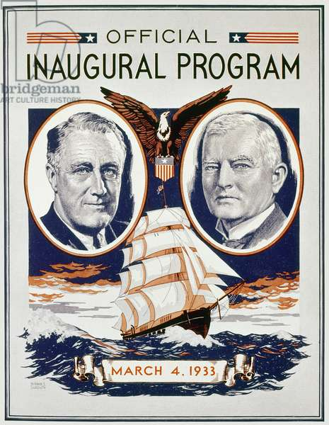 FDR: INAUGURATION, 1933 Official program for the first inauguration of President Franklin Delano Roosevelt.