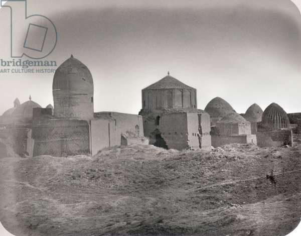 SAMARKAND: RUINS, c.1870 Ruins of the Tomb of Kassim Ibn Abbas (Sheikh Zinde) and mausoleums. Photograph by N.V. Bogaevskii, c.1870.