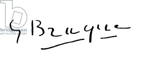 GEORGES BRAQUE (1882-1963) French painter. Autograph signature.