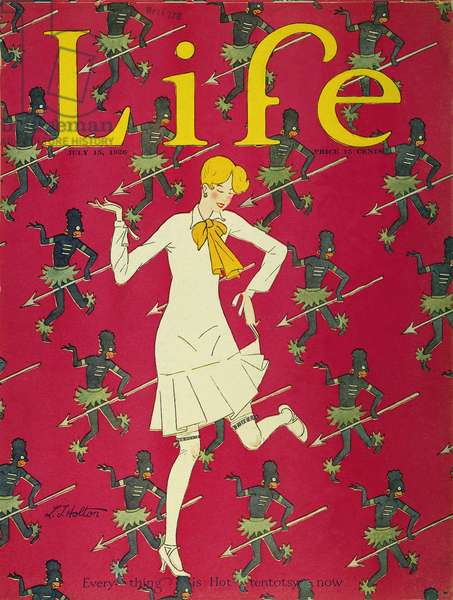 FLAPPER COVER, 1926 'Everything is Hot-tentotsy now.' Cover for 'Life,' by L.J. Holton.