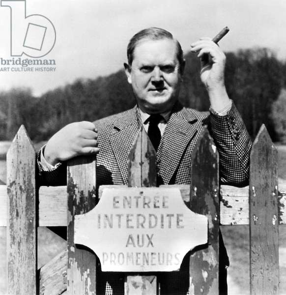 EVELYN WAUGH (1903-1966) English writer. Photographed by Cecil Beaton at Chateau St. Firmin, Chantilly, France, 1955.