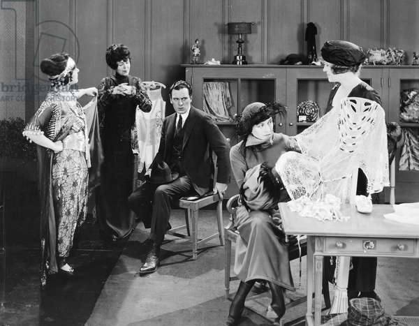 WHY CHANGE YOUR WIFE, 1920. Silent film still. Gloria Swanson and Thomas Meighan.