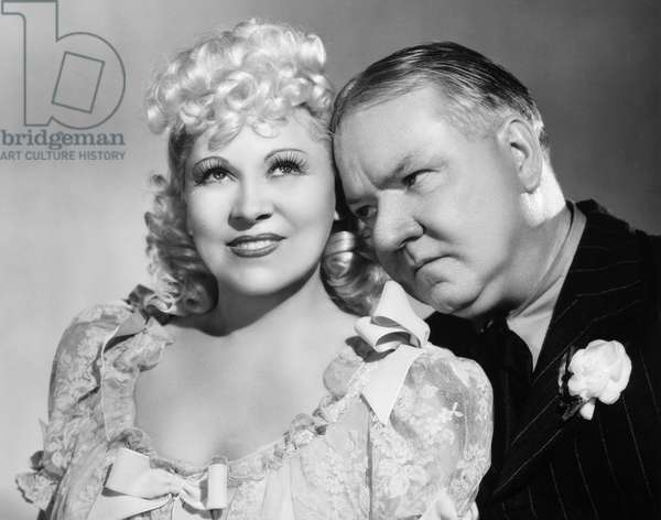 MY LITTLE CHICKADEE, 1940 Film still with Mae West and W.C. Fields.