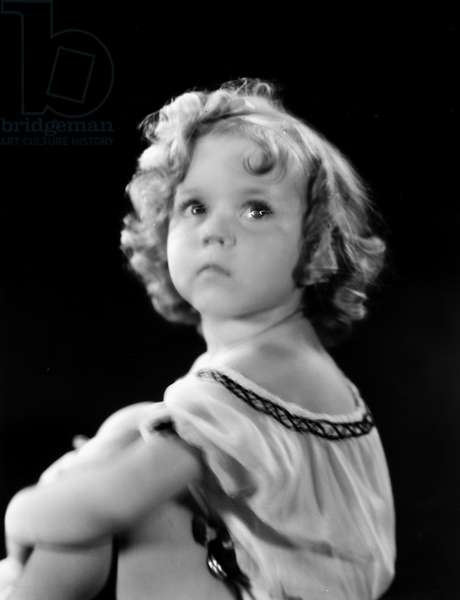 SHIRLEY TEMPLE (1928-2014) American child film actress. Photograph, c.1934.