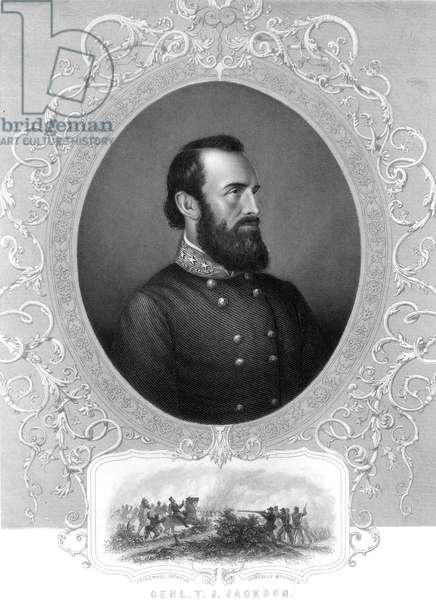 STONEWALL JACKSON (1824-1863). Thomas Jonathan 'Stonewall' Jackson. American Confederate general. Line and stipple engraving, 19th century.